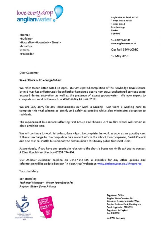 thumbnail of Anglian Water Letter